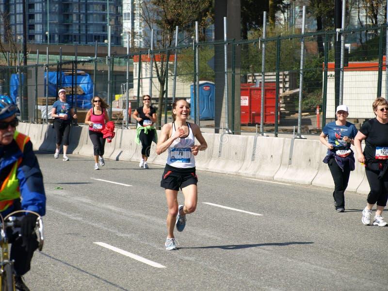 Revestimento da maratona de Vancôver fotos de stock royalty free