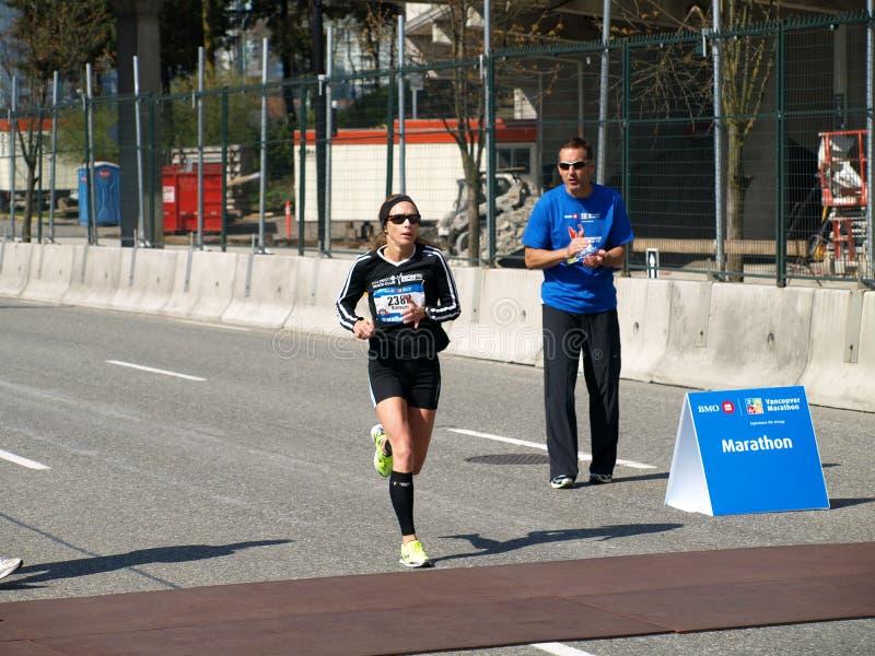 Revestimento da maratona de Vancôver imagens de stock