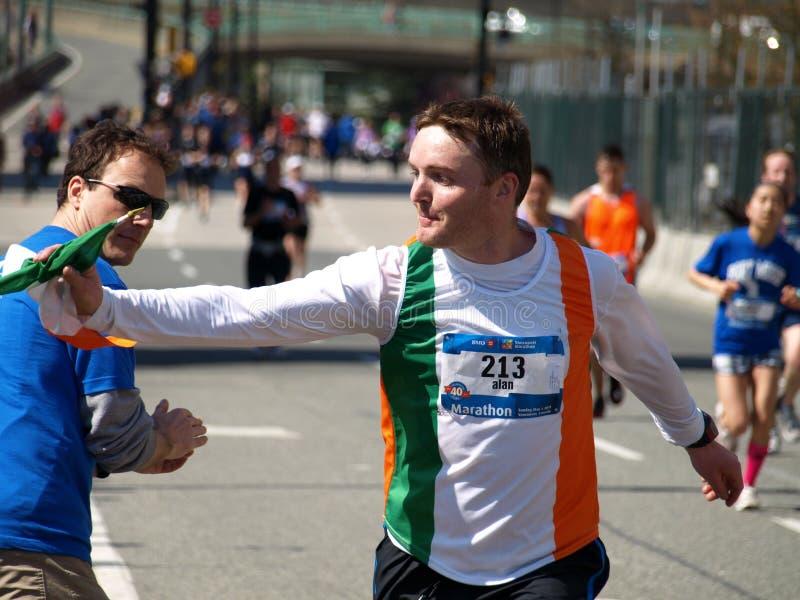 Revestimento da maratona de Vancôver foto de stock