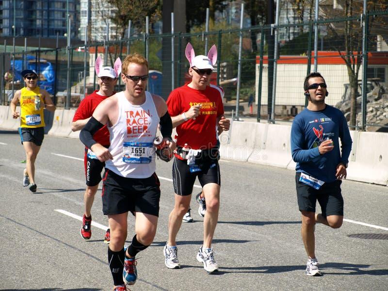 Revestimento da maratona de Vancôver imagens de stock royalty free