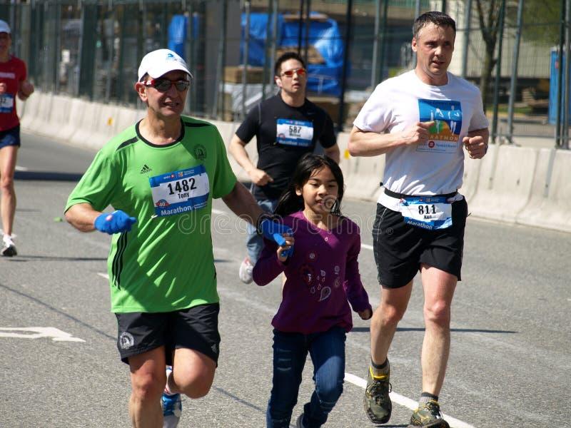 Revestimento da maratona de Vancôver imagem de stock