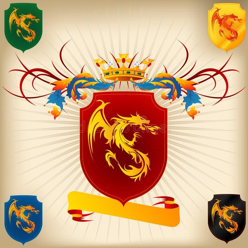 Revestimento de braços 26 - dragão ilustração stock