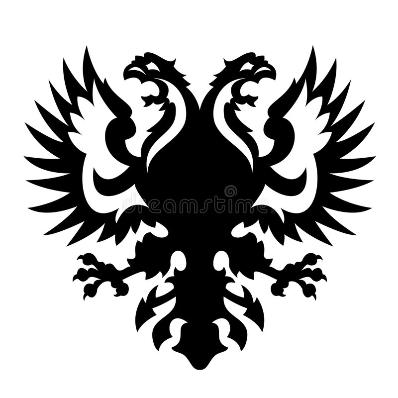 Revestimento de braços Albânia Rússia ilustração royalty free