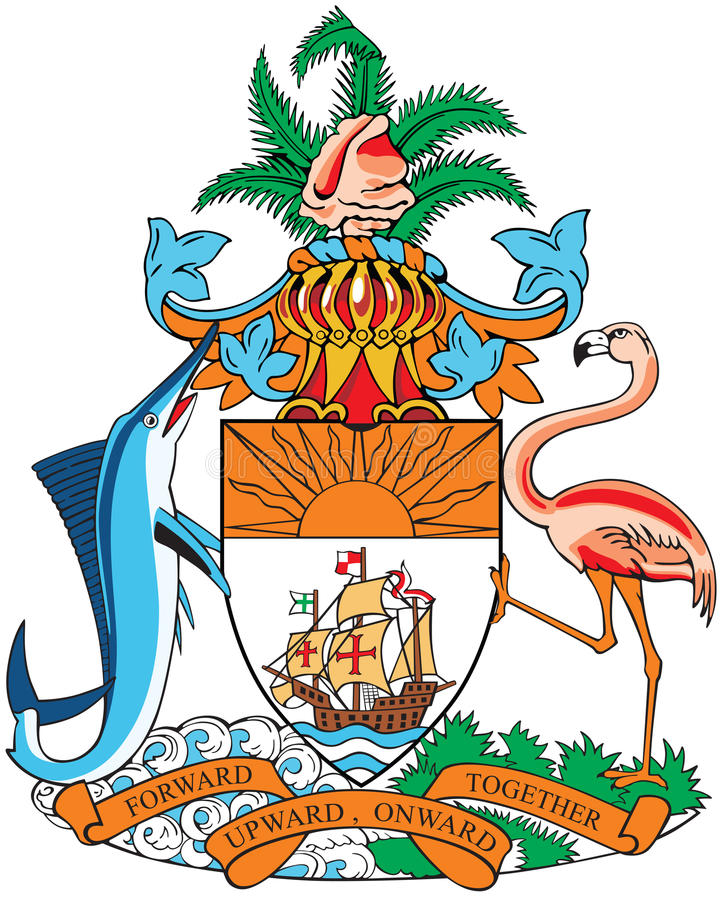 Revestimento de braços de Bahamas ilustração royalty free