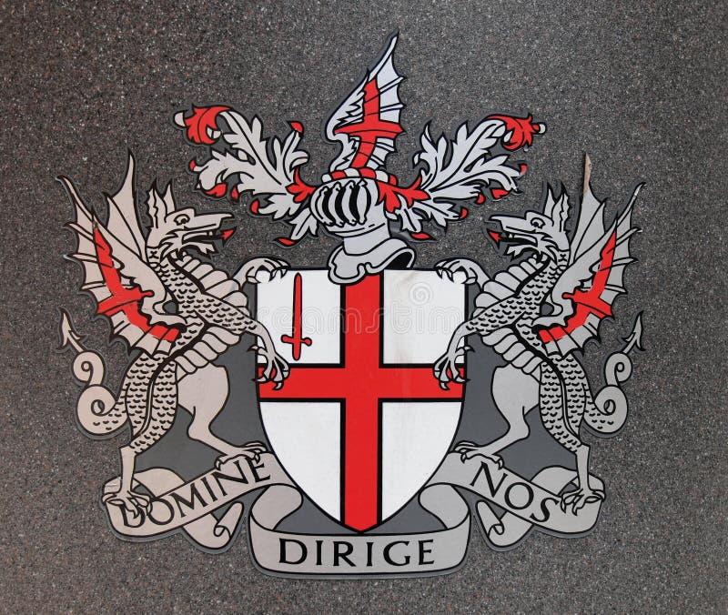 Revestimento de Londres de braços fotos de stock royalty free