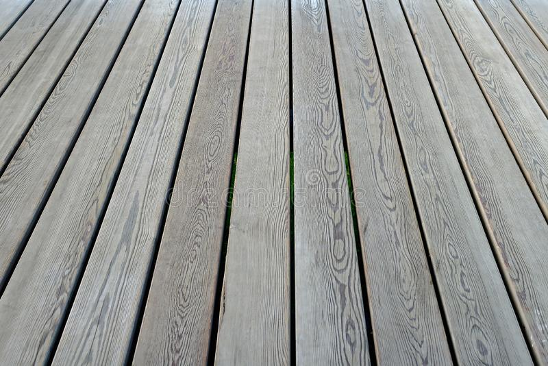 Revestimento de madeira, vista na perspectiva Assoalho de madeira como o fundo imagem de stock