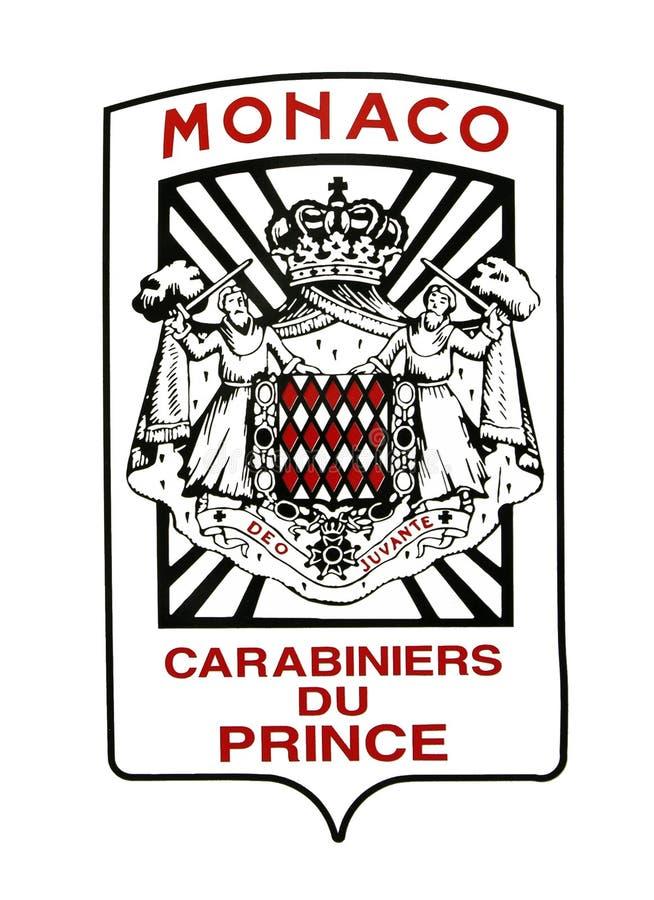 Revestimento de Monaco de braços militar fotos de stock royalty free