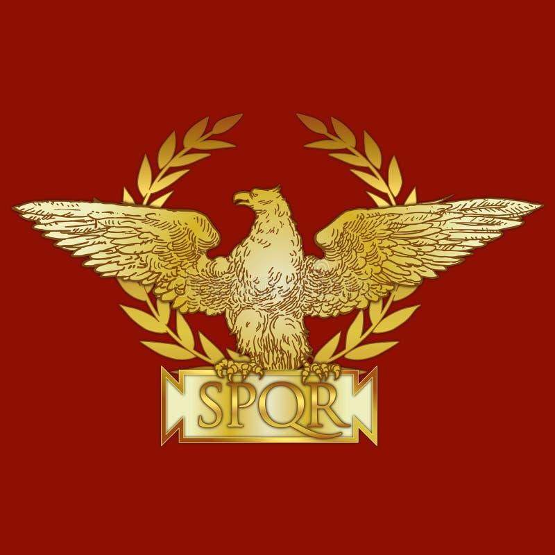 Revestimento de Roman Empire de braço, símbolo histórico ilustração do vetor