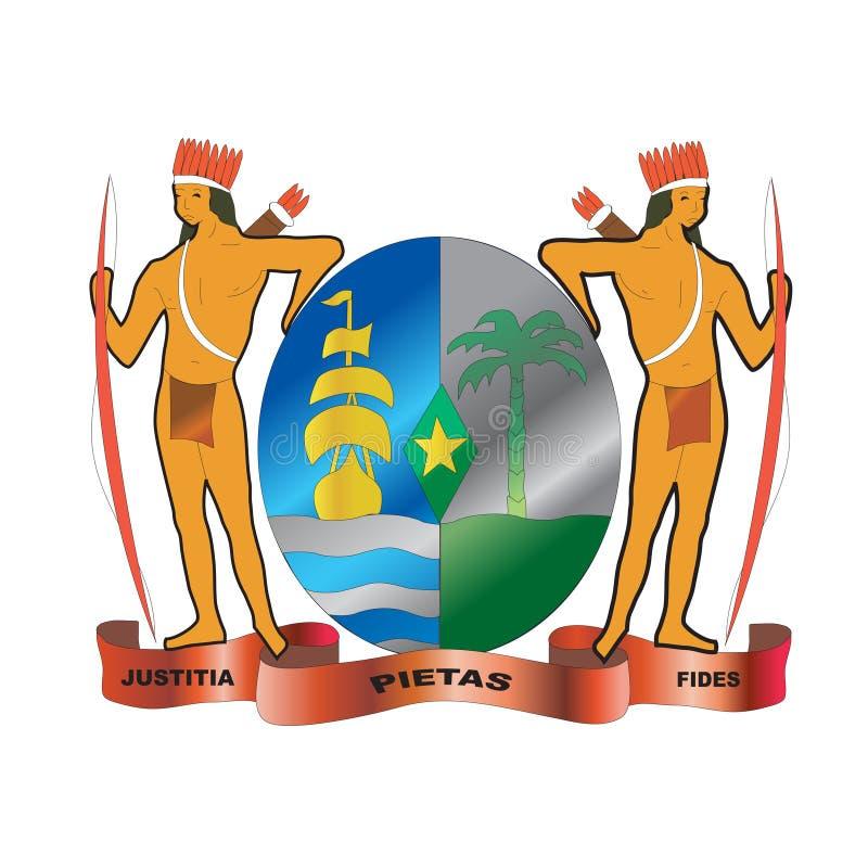 Revestimento de Suriname de braços nativo ilustração stock