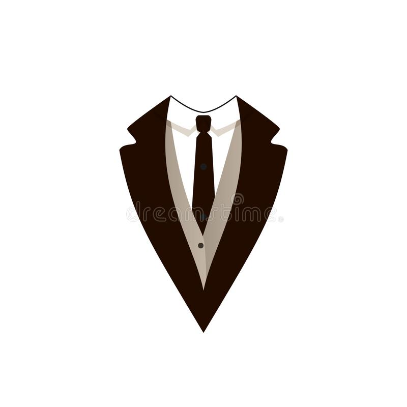 Revestimento do homem do vetor, roupa oficial, evento do traje de cerimônia, ícone ilustração royalty free