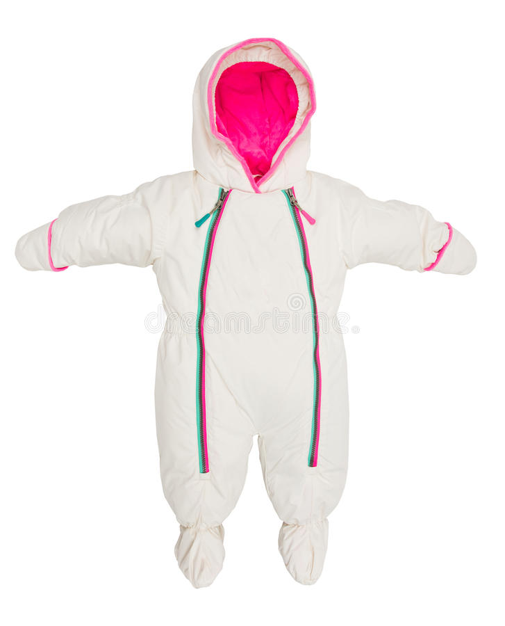 Revestimento do snowsuit do bebê imagem de stock royalty free