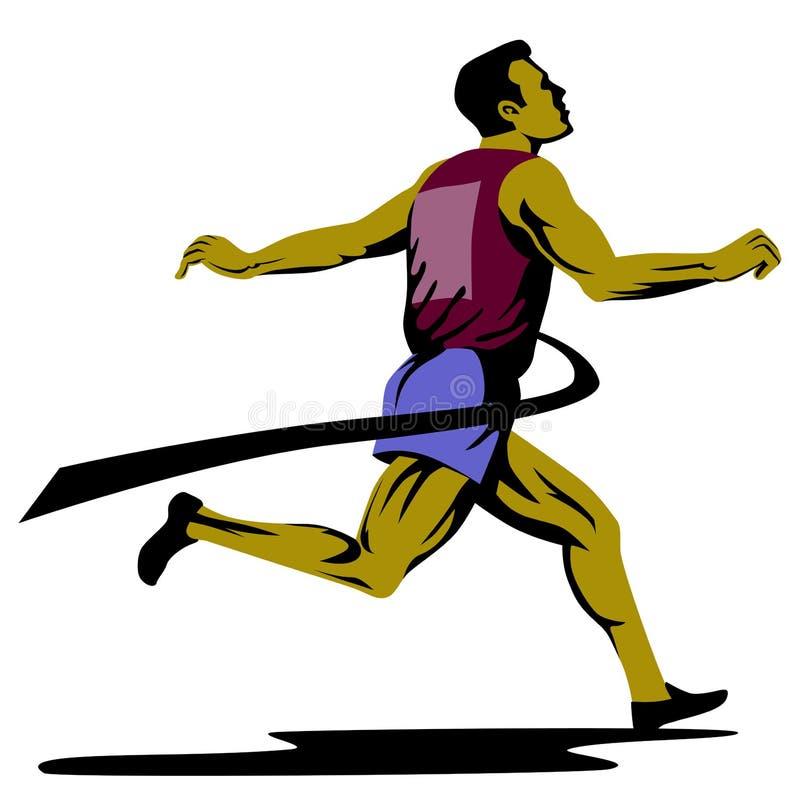 Revestimento do velocista ilustração royalty free