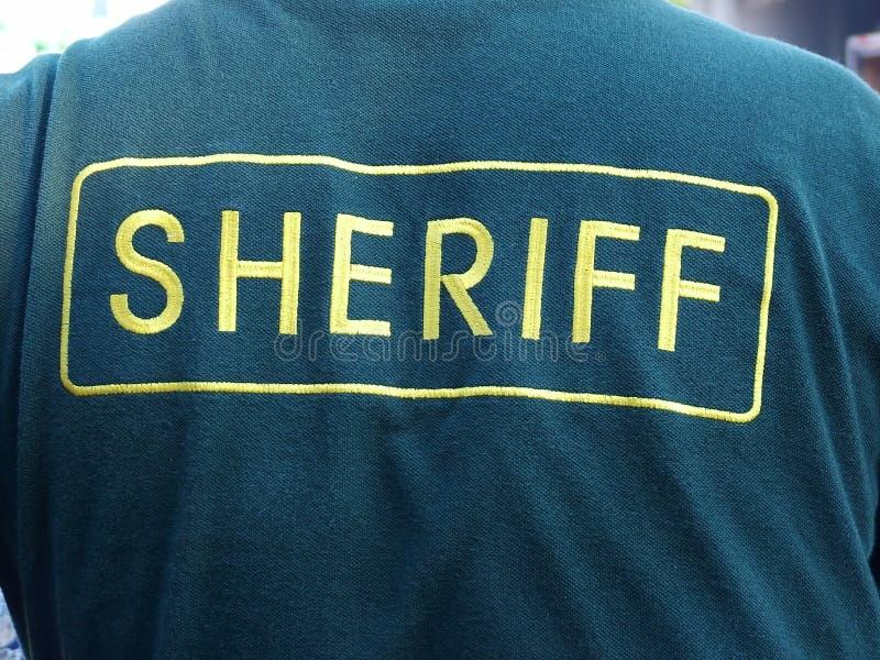 Revestimento do xerife fotografia de stock royalty free