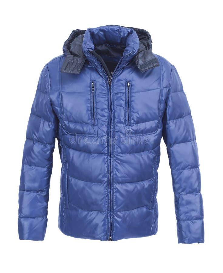 Revestimento masculino azul do inverno imagens de stock royalty free