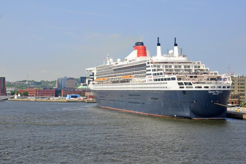 Revestimiento marino famoso de los mundos Queen Mary 2 imagen de archivo libre de regalías