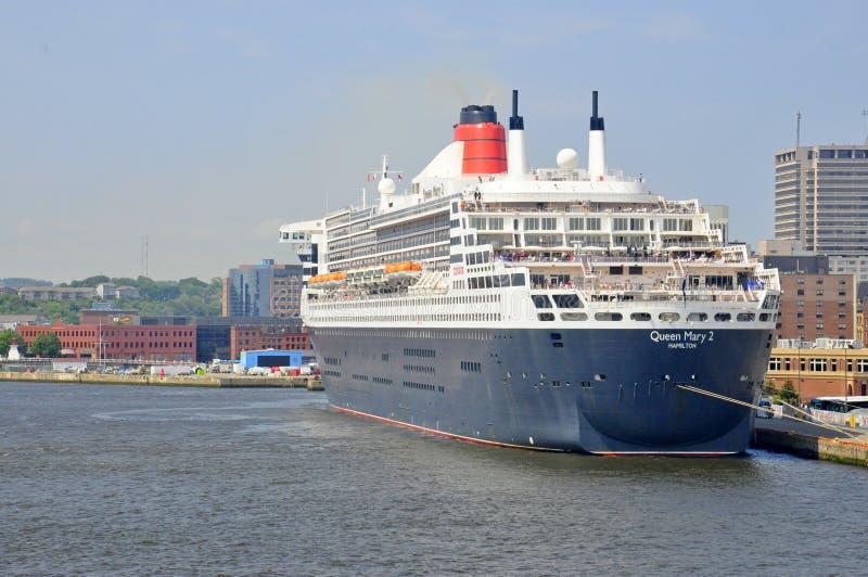 Revestimiento marino Queen Mary 2 imagen de archivo libre de regalías