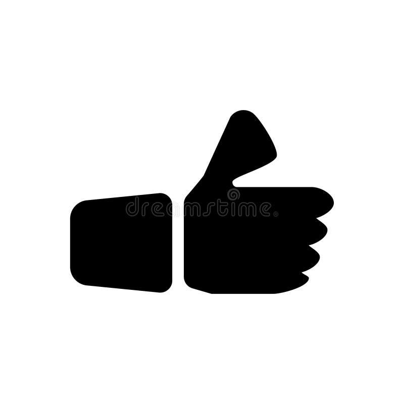 Like icon. Social  media button. Review, good, like, positive, hand, symbol, sign, illustration, customer, vector, design, feedback, flat, ok, web, social, icon royalty free illustration