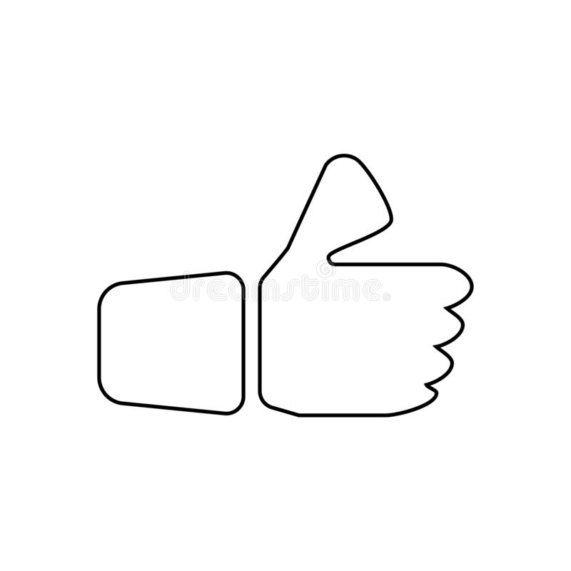 Like icon. Social  media button. Review, good, like, positive, hand, symbol, sign, illustration, customer, vector, design, feedback, flat, ok, web, social, icon vector illustration