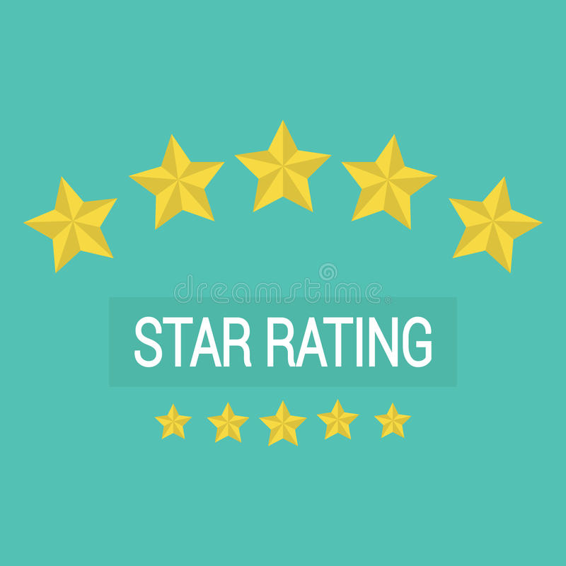 Review rating , customer reviews stars rate stock image