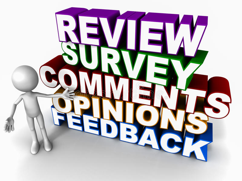 Review survey feedback opinion vector illustration
