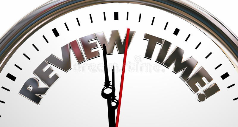 Review Time Clock Evaluation Rating Words royalty free illustration