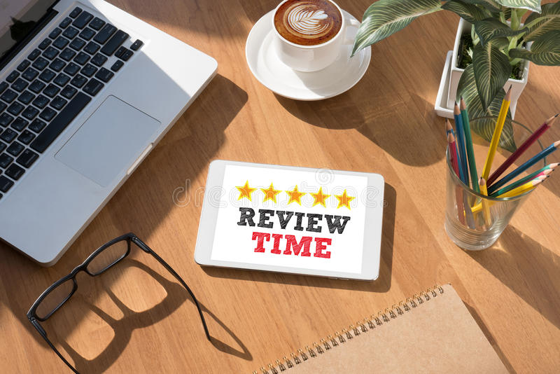Review Time words Concept royalty free stock images