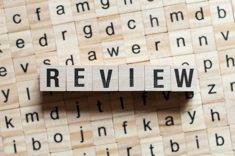 Review word concept stock image