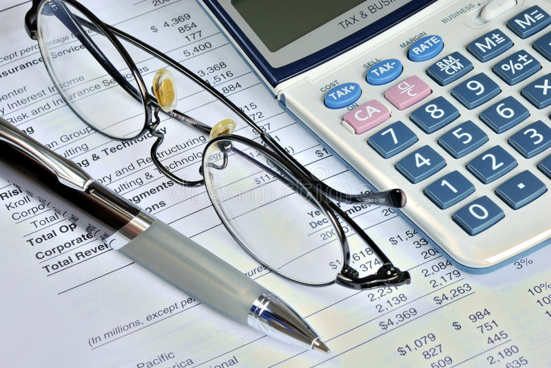 Download Reviewing The Financial Report Of A Company Stock Photo - Image: 11884070