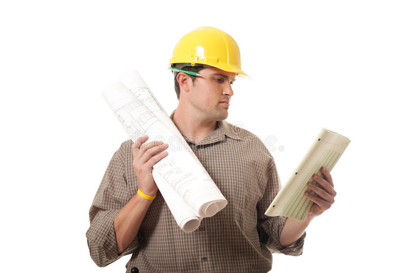 Reviewing paperwork royalty free stock photo
