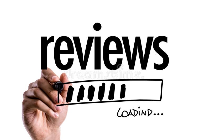 Reviews on a conceptual image royalty free stock photography