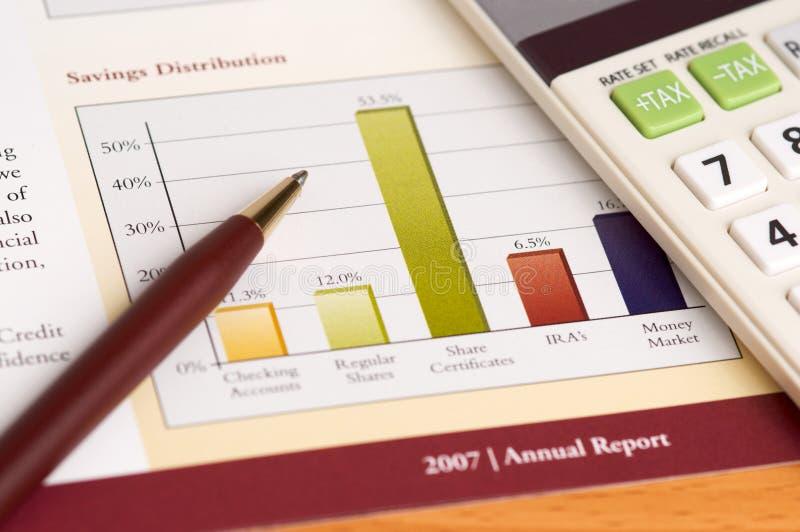 Revisão anual de planeamento financeiro fotografia de stock royalty free