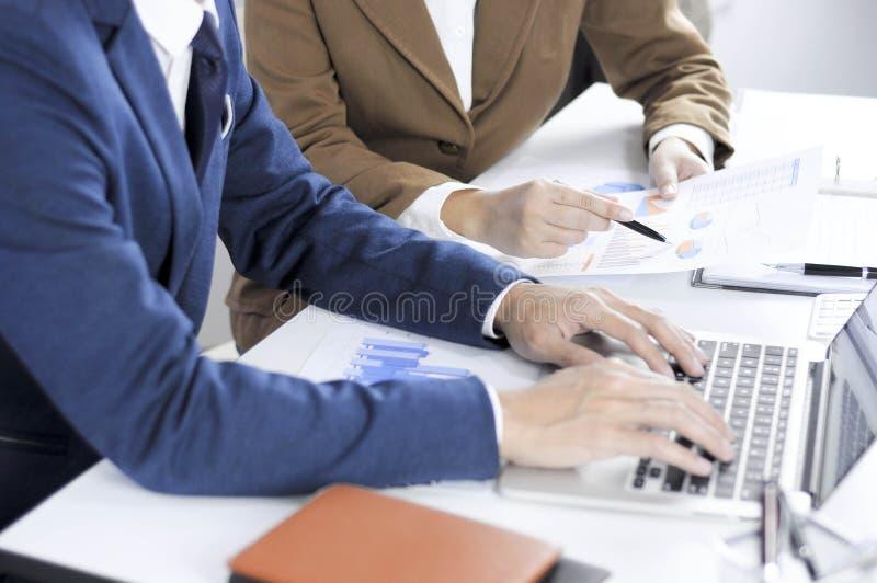 Revisão de encontro consultiva da gestão do investimento da administração do planeamento do contador imagem de stock