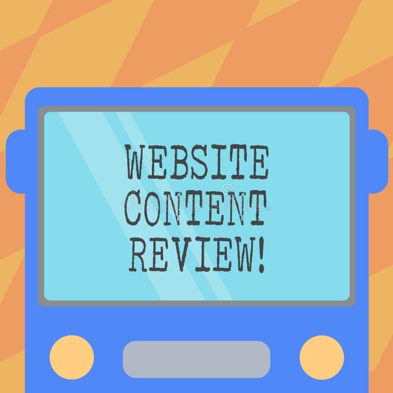 Revisão do índice do Web site da exibição do sinal do texto A foto conceptual avalia o processo isso para avaliar e melhorar sati ilustração stock