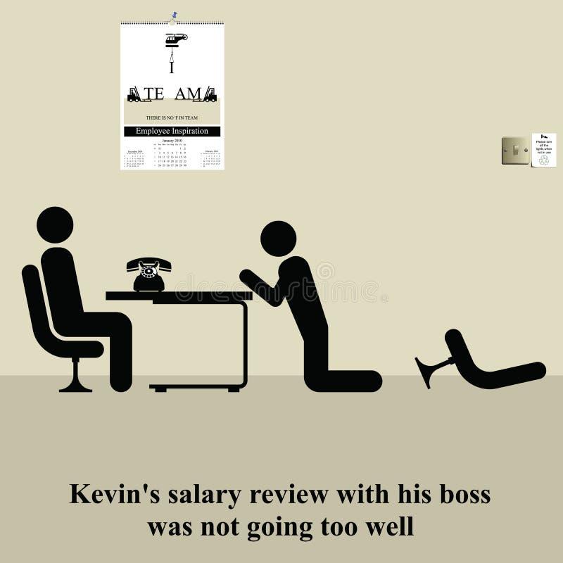 Revisão do salário ilustração stock