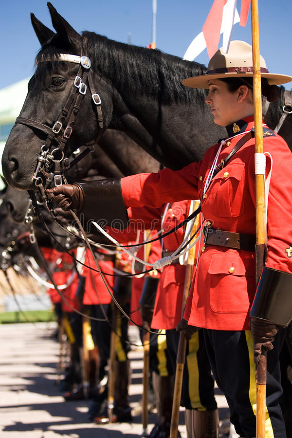 Revisão musical do passeio de RCMP fotos de stock royalty free