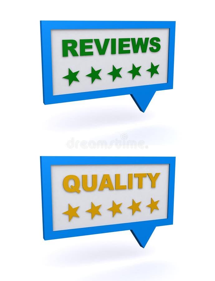 Revisões e qualidade ilustração royalty free