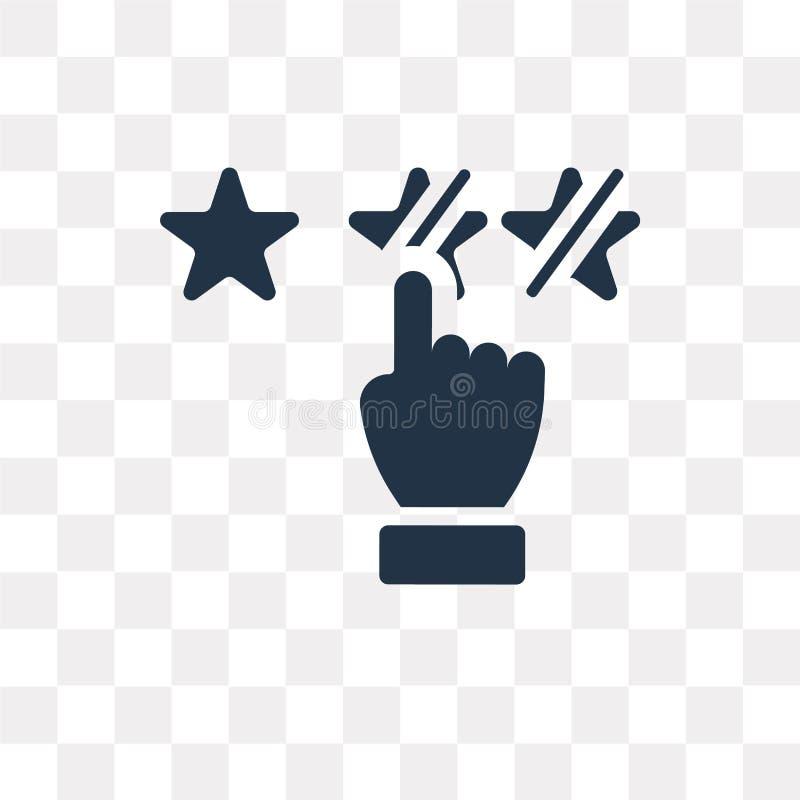 Revise el icono del vector aislado en el fondo transparente, comentario t stock de ilustración