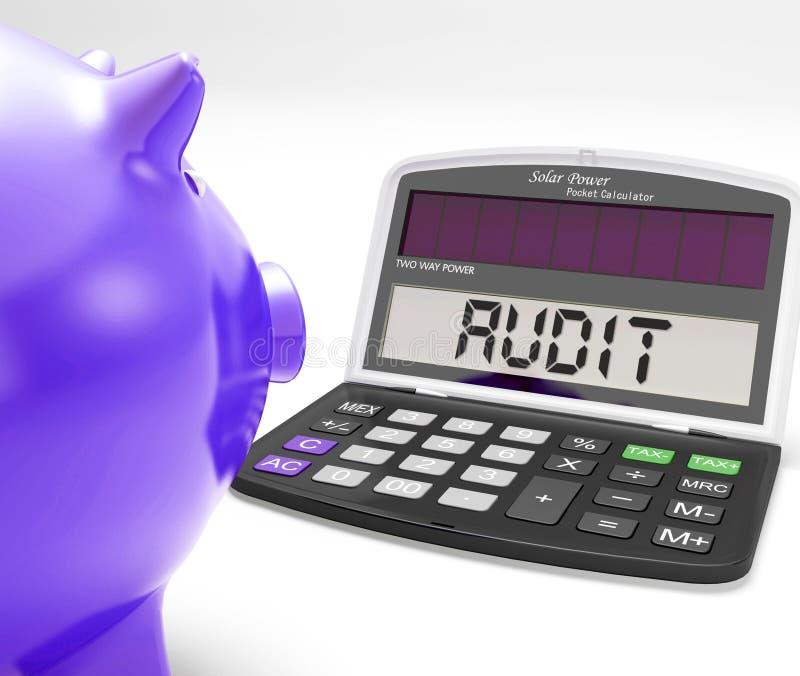 Revisionsräknemaskinen betyder kontrollgodkännande vektor illustrationer