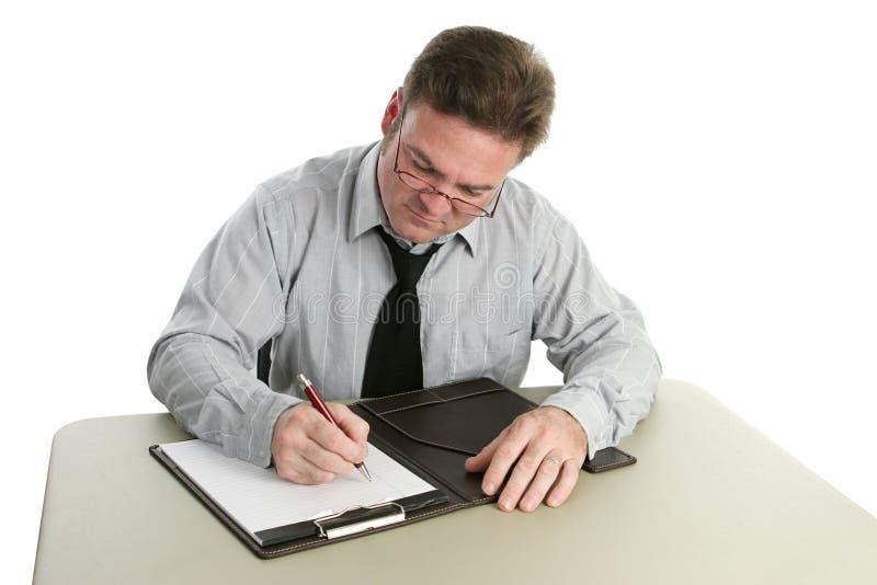 Revisor de contas - tomando notas fotos de stock royalty free