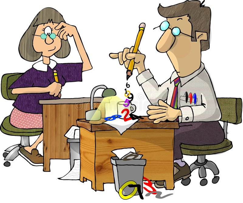 Download Revisorer två stock illustrationer. Bild av jobb, karikatyr - 27832