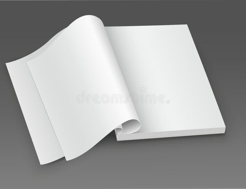 Revista abierta del espacio en blanco blanco. libre illustration