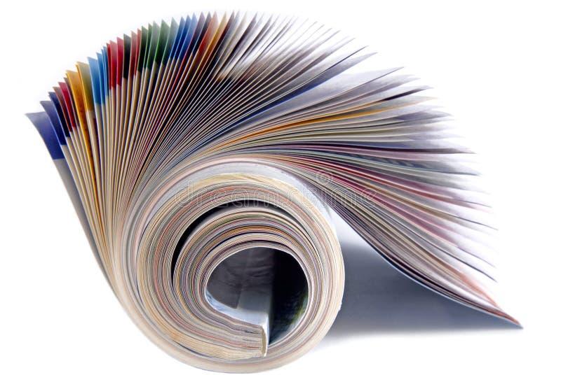 Revista aislada foto de archivo libre de regalías
