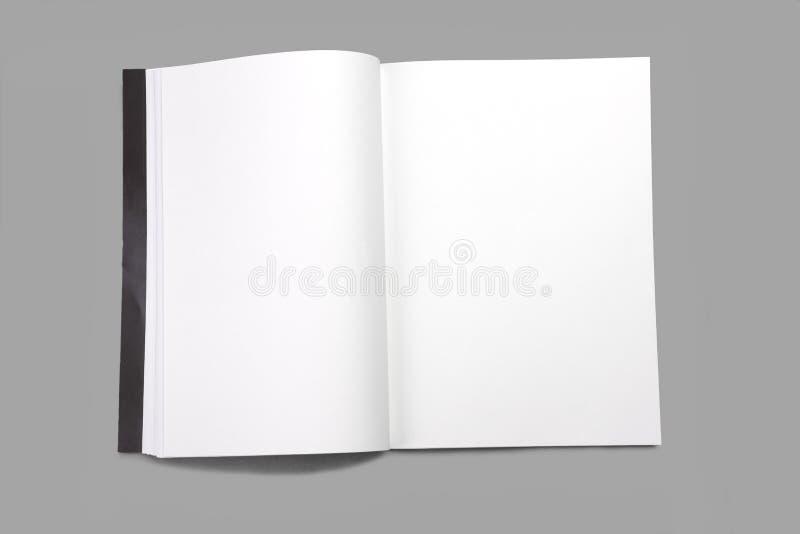 Revista en blanco de la página blanca fotografía de archivo