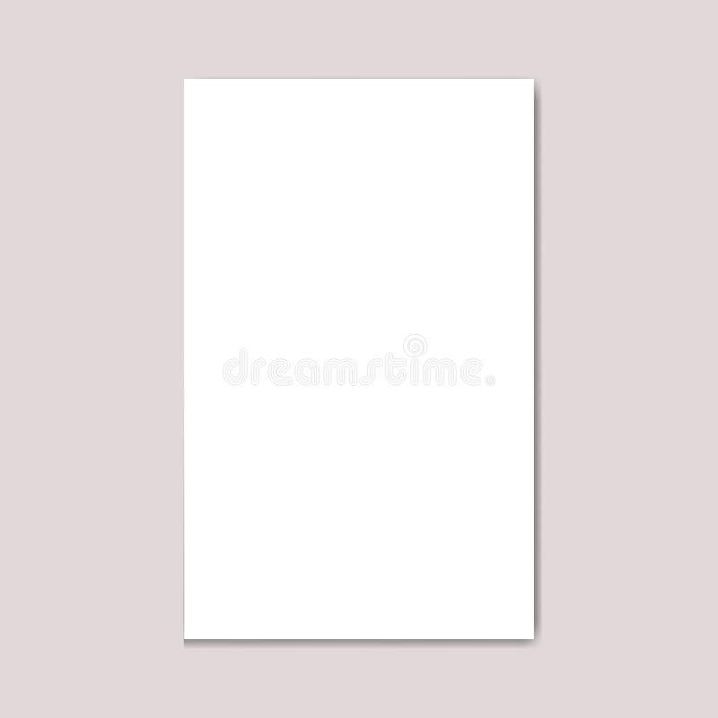 Revista en blanco del folleto del formato de la Nosotros-letra del paisaje ilustración del vector