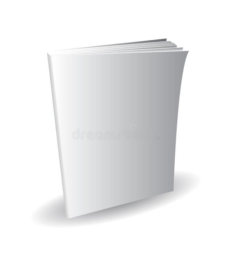 Revista en blanco derecha, libro, cubierta blanca y sombra, EPS fotos de archivo
