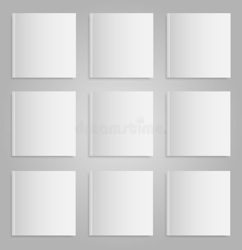 Revista o libro vacía en blanco Mofa para arriba nueve libre illustration