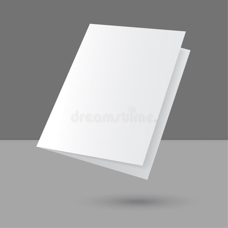 Revista vacía en blanco de cernido ilustración del vector