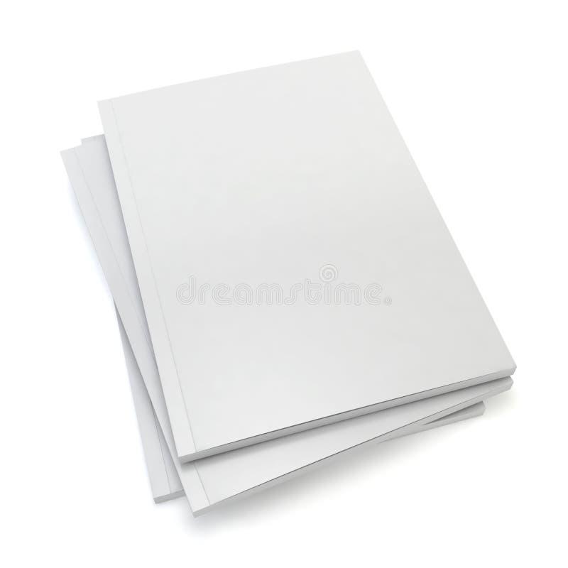 Revistas en blanco ilustración del vector