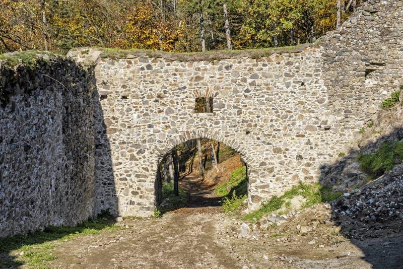 Reviste castle ruins, Slovak republic. Travel destination. Architectural theme royalty free stock photography