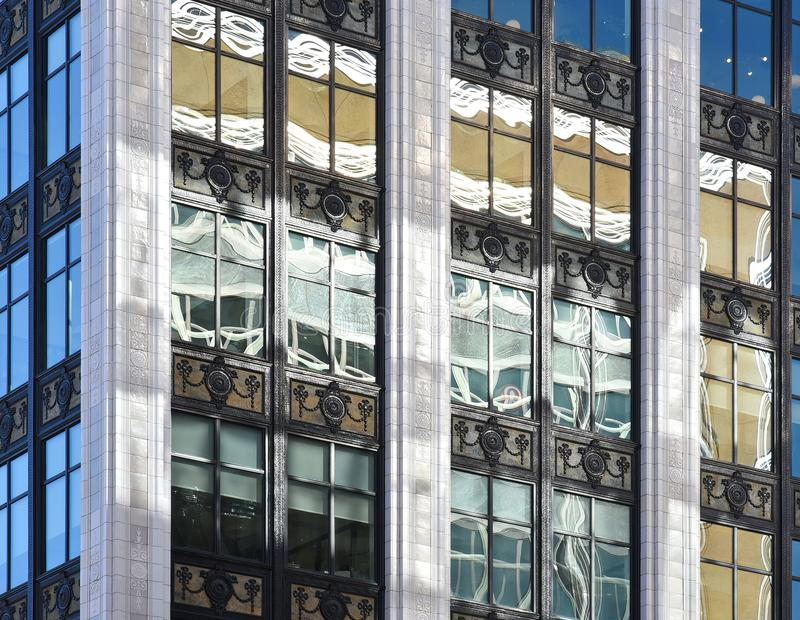 Revitalization Along Woodward Avenue in Detroit stock images